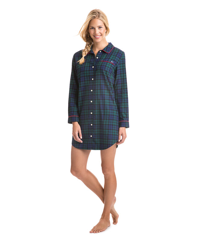 Blackwatch Flannel Sleep Shirt