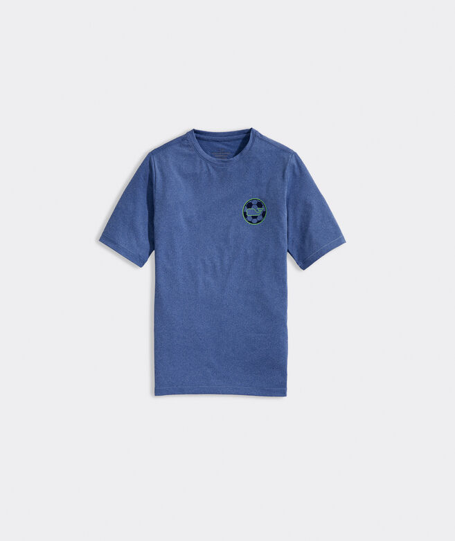 Boys' Soccer Whale Dot Short-Sleeve Performance Tee