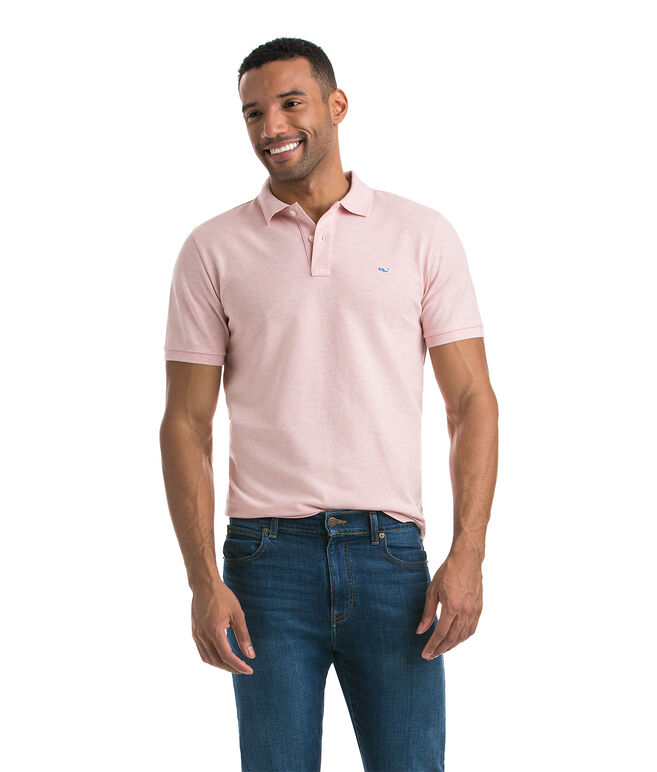 Heathered Contrast Whale Slim Polo