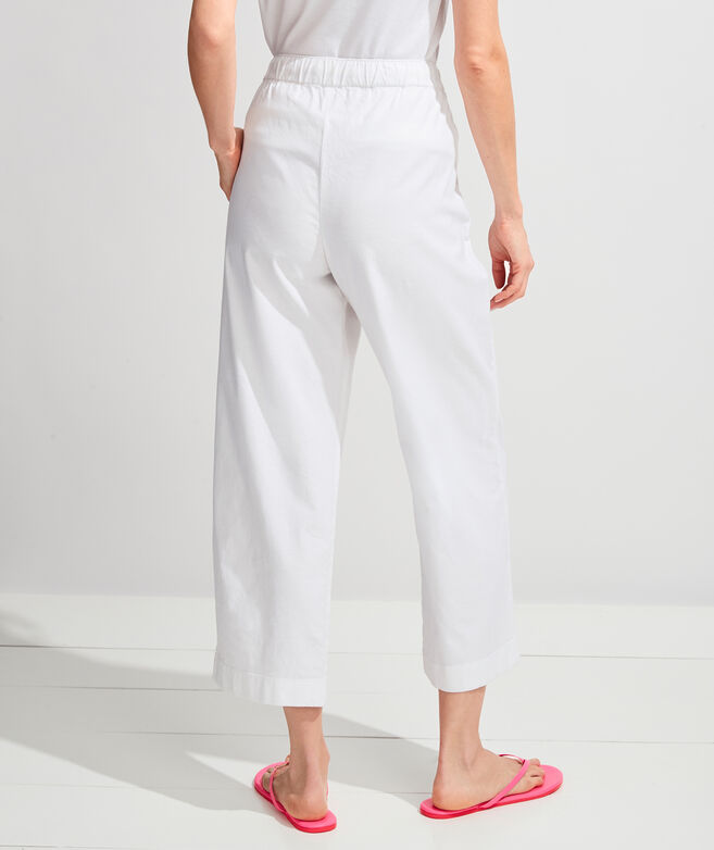 Wide Leg Linen-Pull On Pants