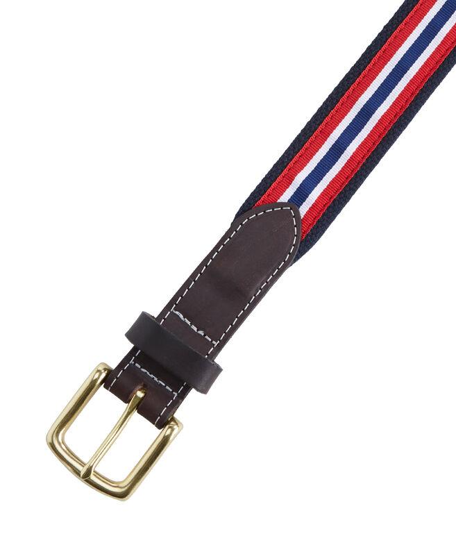 Prep Stripe Canvas Club Belt