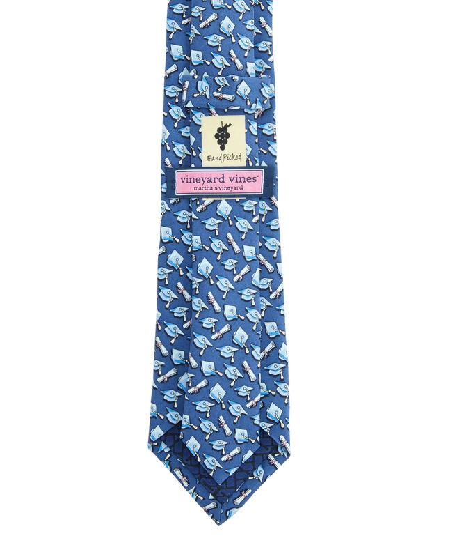 Boys New Graduation Caps Printed Tie