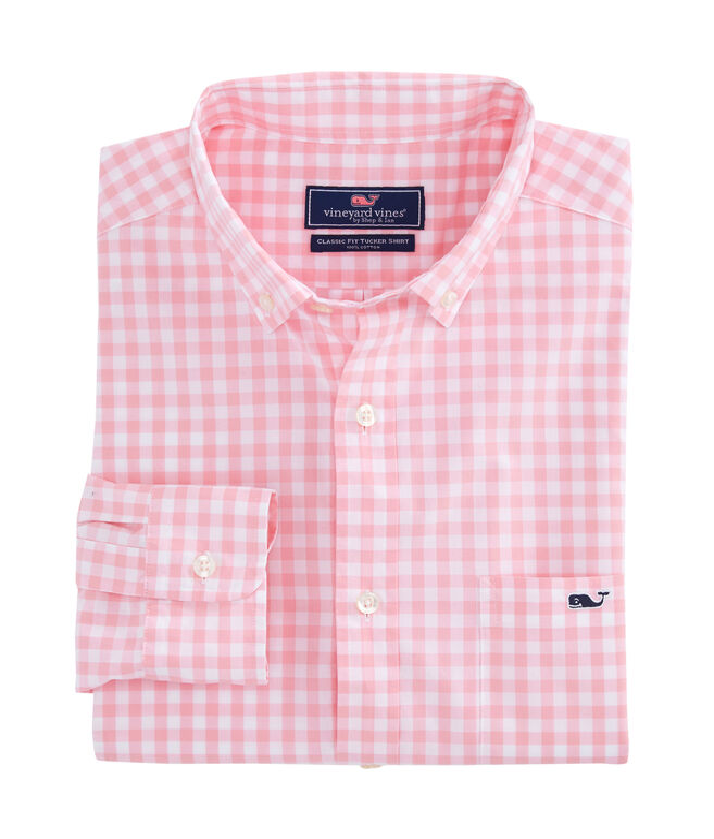 Star Island Gingham Classic Tucker Shirt