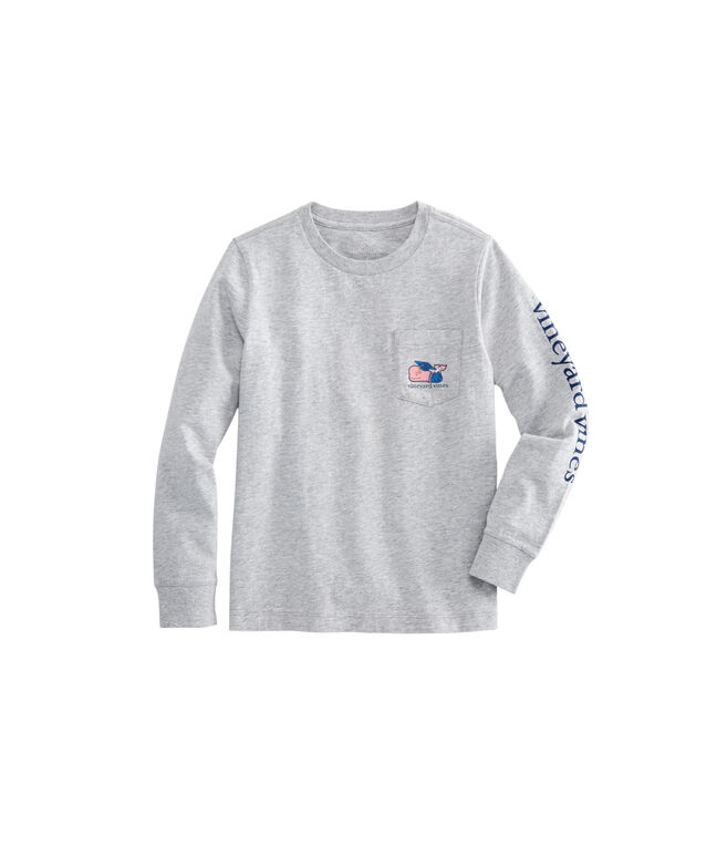 Boys Long-Sleeve Graduation Whale 2019 Pocket T-Shirt