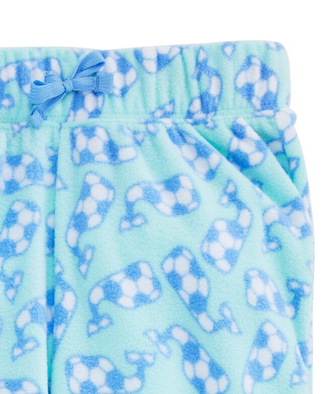Girls Whale Fleece Pajama Pants