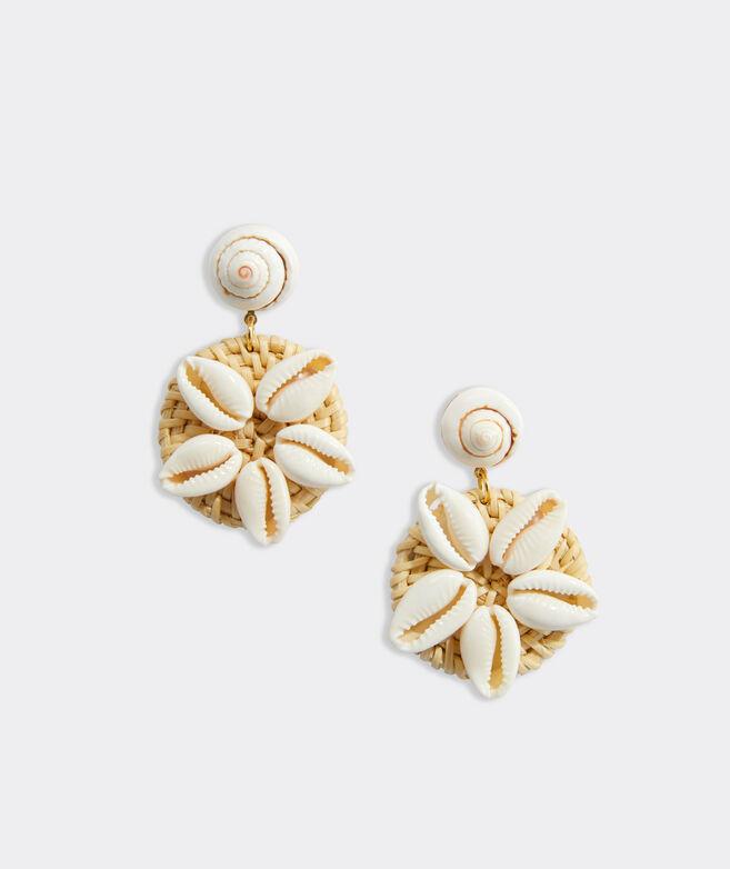 Shell Basket Weave Earrings
