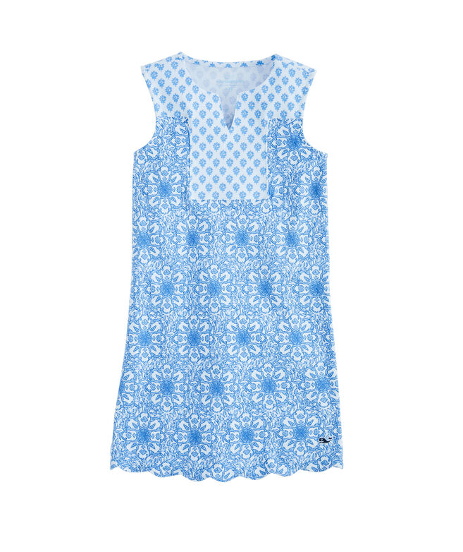 OUTLET Girls' Tile Medallion Shift Dress
