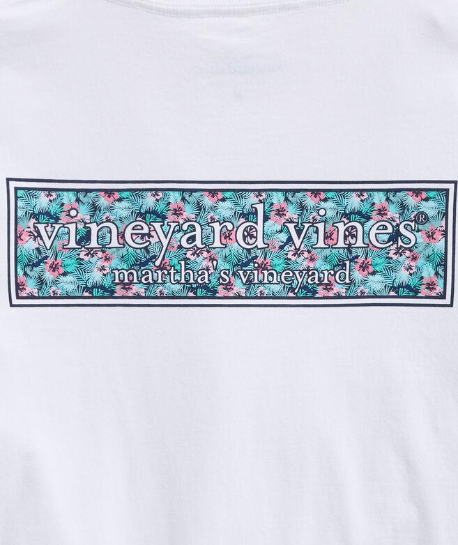 Floral Logo Box Long-Sleeve Pocket T-Shirt