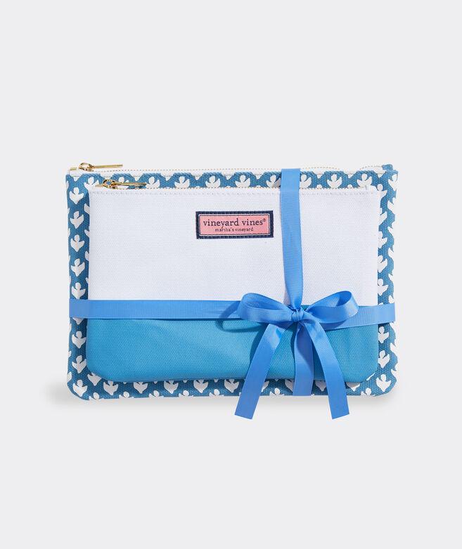 Block Print 2-Pack Cosmetic Set