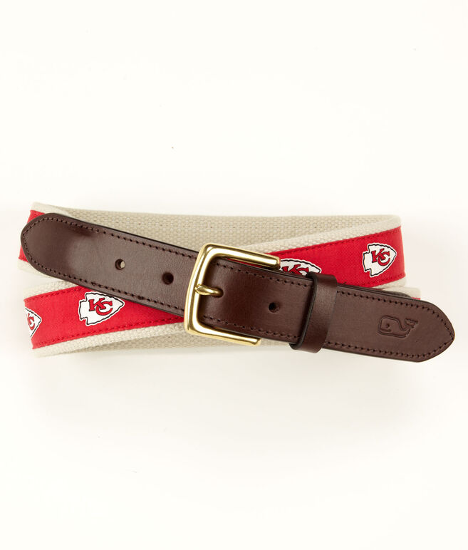 Kansas City Chiefs Canvas Club Belt