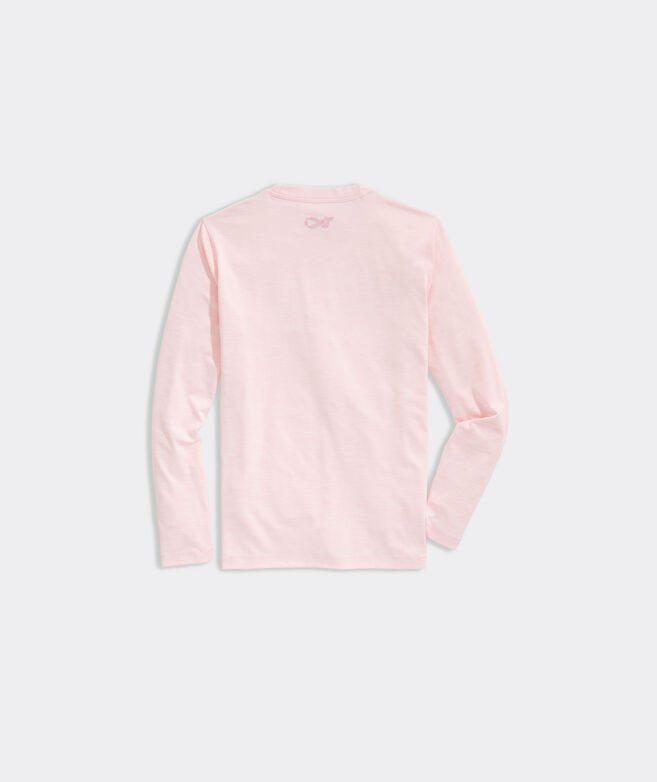 Kids' Limited-Edition Breast Cancer Awareness Long-Sleeve Harbor Performance Tee