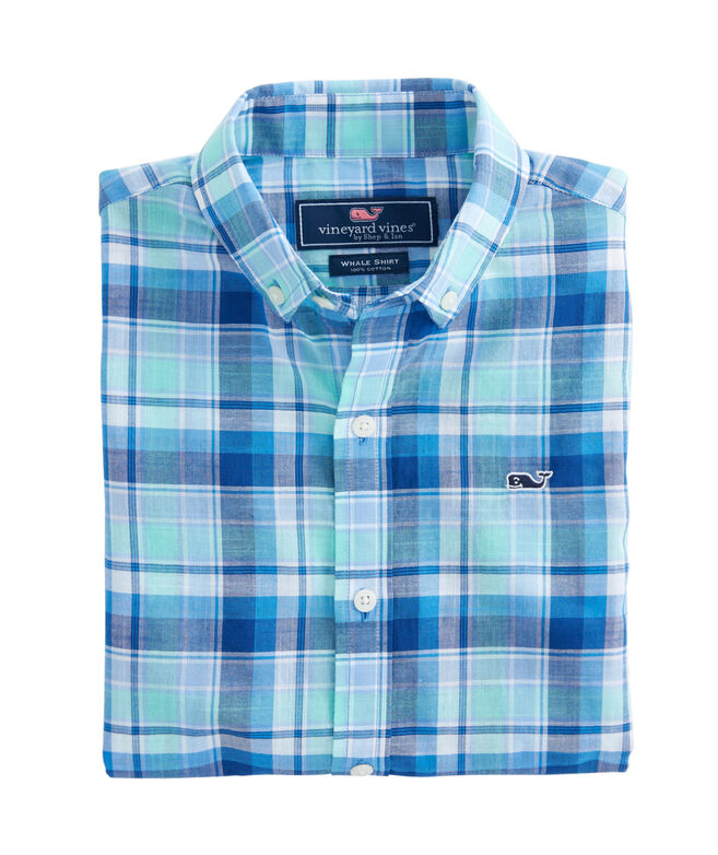 Boys Gibbs Hill Plaid Whale Shirt