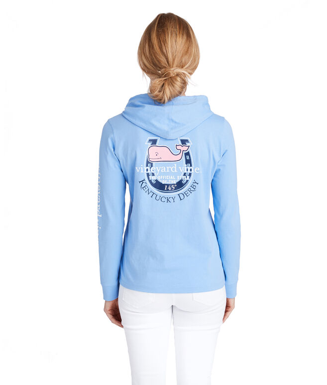 Long-Sleeve Horseshoe Hoodie Pocket Tee