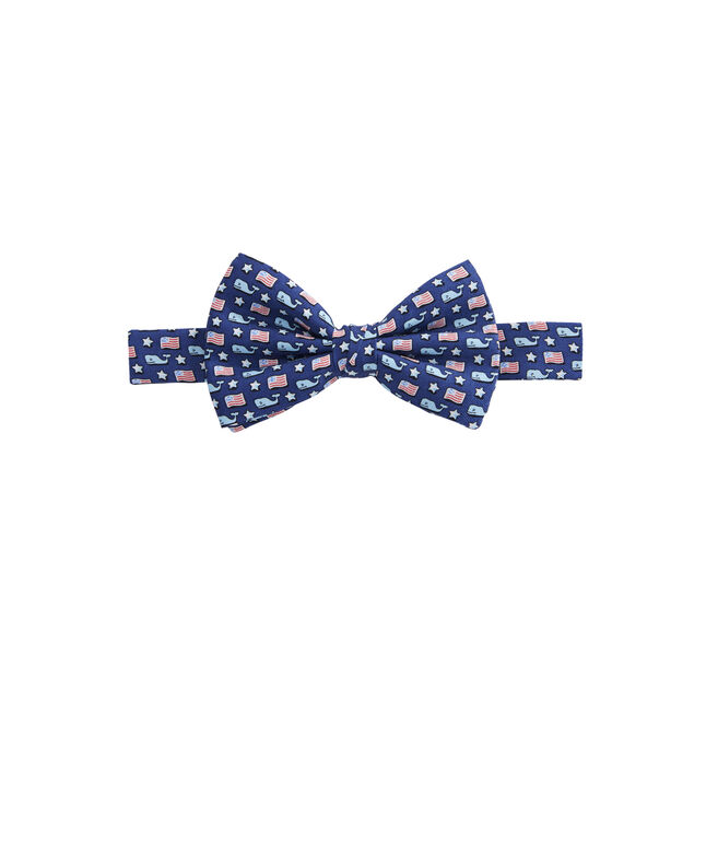 Boys Whale & Flag Bow Tie
