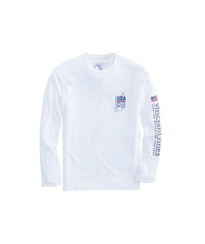 Long-Sleeve Performance American Sail T-Shirt