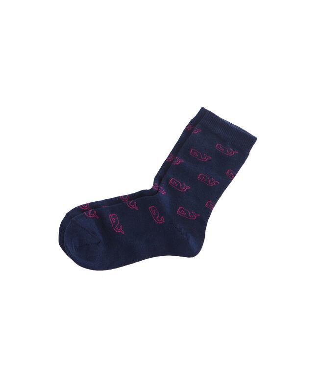 Girls Classic Whale Socks