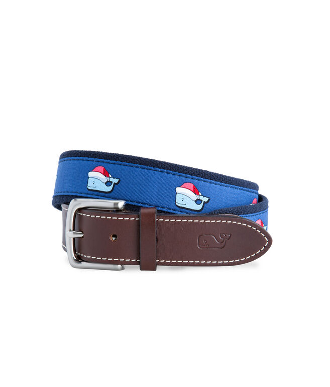 Santa Whale Canvas Club Belt