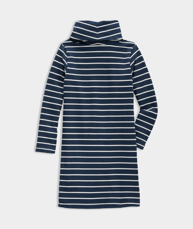 Girls' Break Stripe Cowl Neck Dress