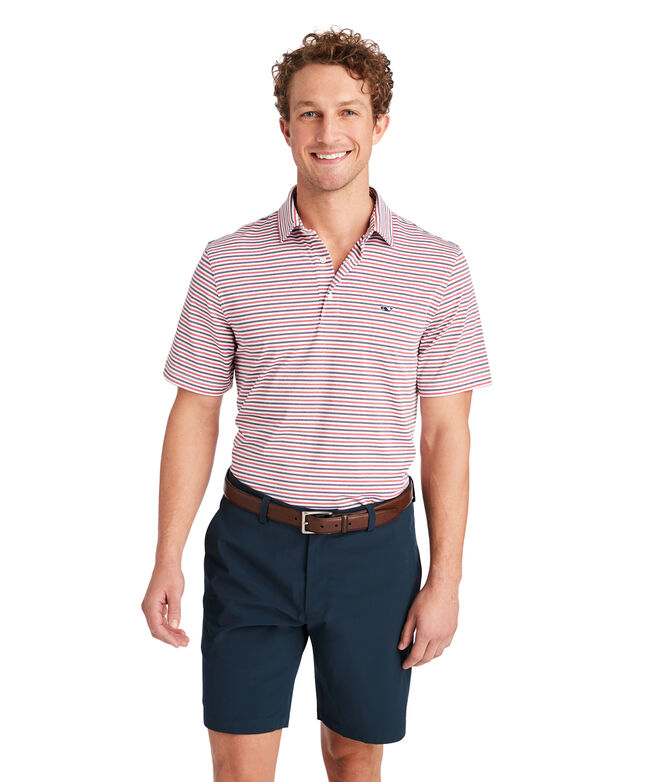Multi-Cationic Stripe Sankaty Polo