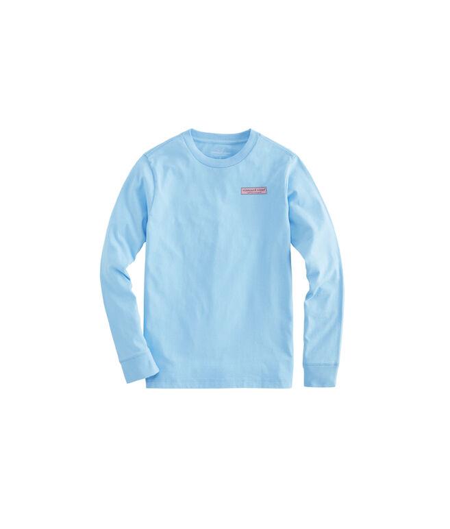 NWT Vineyard Vines Boy/'s USA Surf Logo Pocket White L//S T-Shirt Large 16