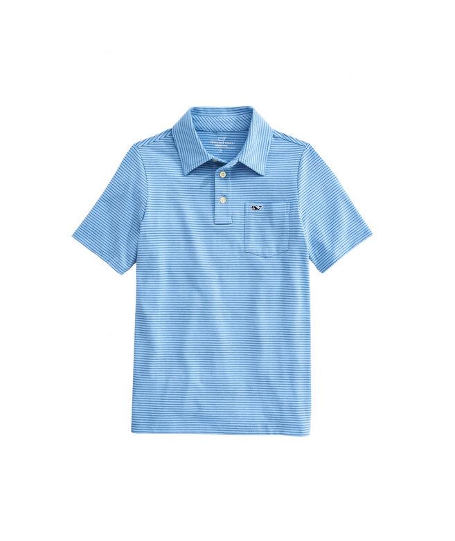 OUTLET Boys' Pin Stripe Edgartown Polo