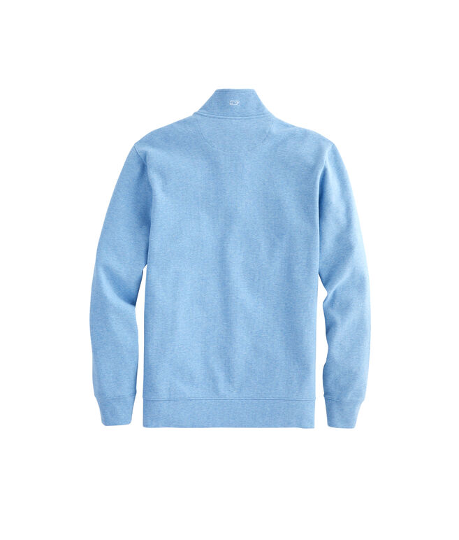 Mens Saltwater Solid Zip Mock
