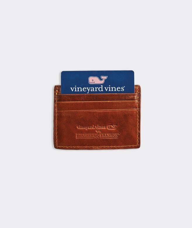 vineyard vines x Smathers & Branson Crossed Lacrosse Sticks Needlepoint Card Case