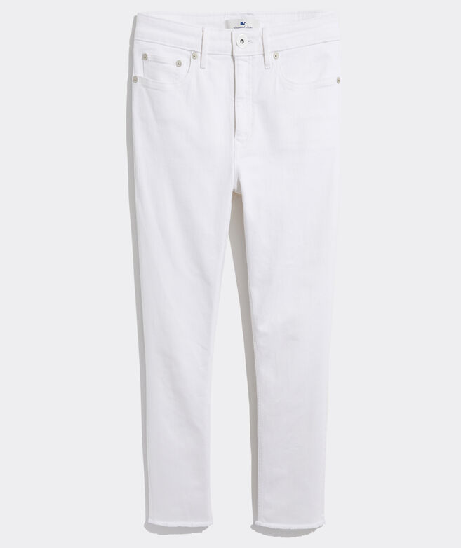 Jamie High-Rise Straight Crop White Jeans