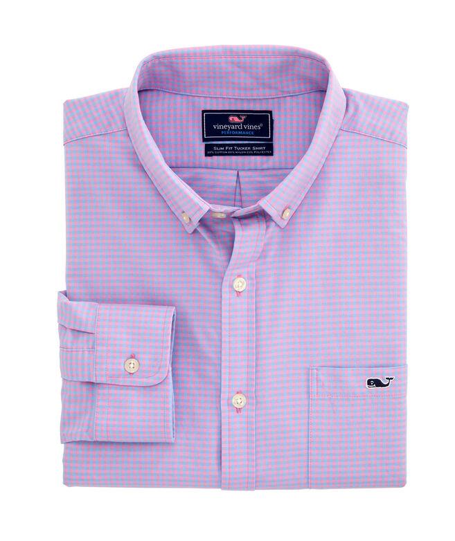 Big & Tall Classic Fit Lemon Shark Cotton Performance Tucker Button-Down Shirt