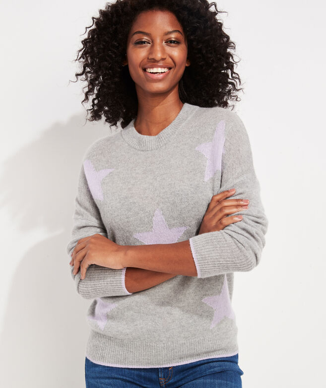 Lofty Cashmere Stars Crewneck Sweater