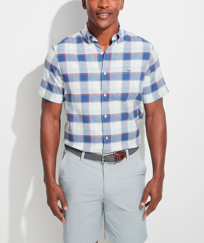 Classic Fit Lagoon Tucker Short-Sleeve Button-Down Shirt