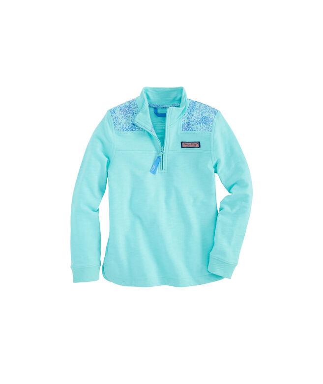Girls Sea Turtle Print Shoulder Relaxed Shep Shirt