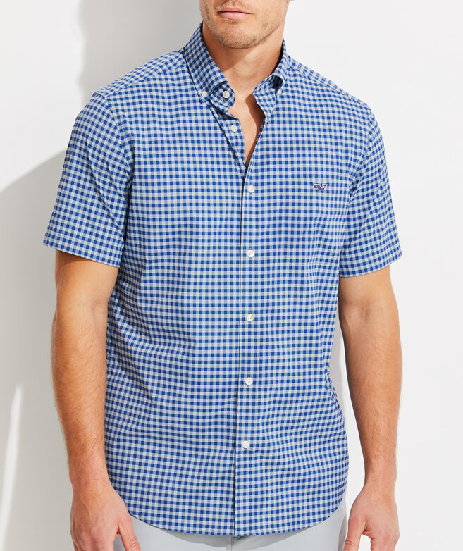 Classic Fit Citron On-The-Go Performance Tucker Short-Sleeve Button-Down Shirt
