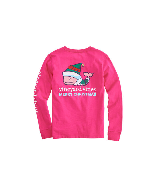 Girls Elf Whale Long-Sleeve Pocket Tee