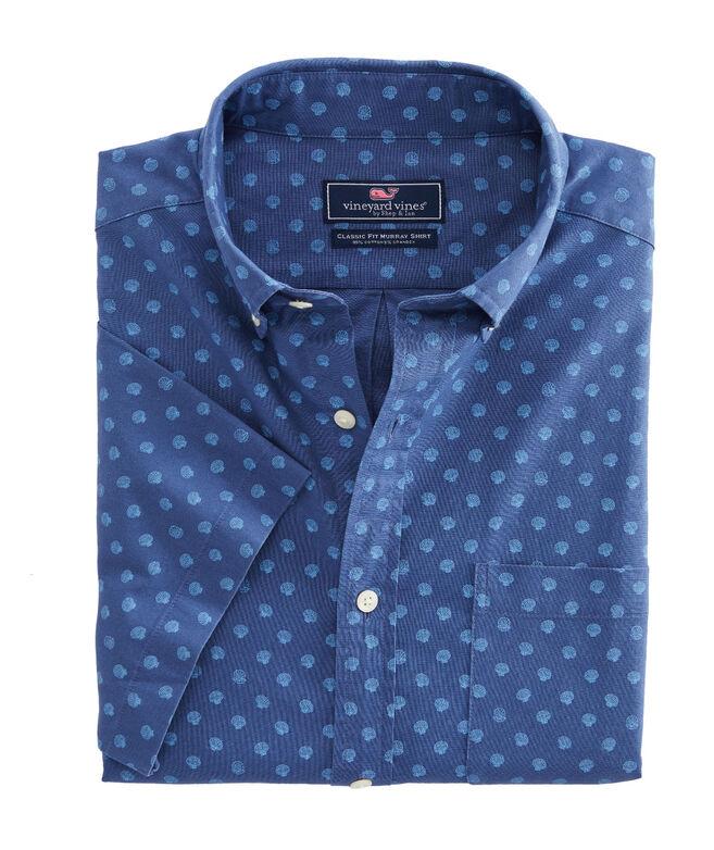 Classic Fit Clams Short-Sleeve Murray Shirt
