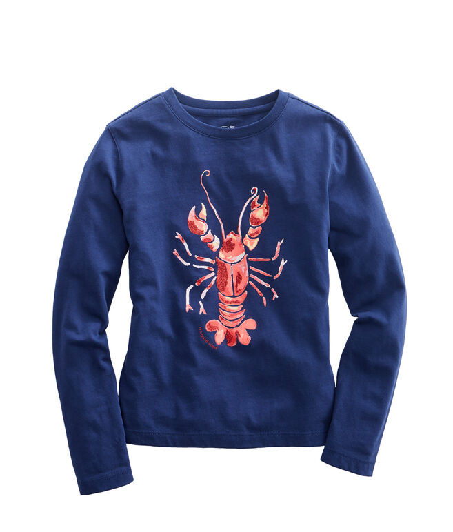 Girls Long-Sleeve Lobster Tee