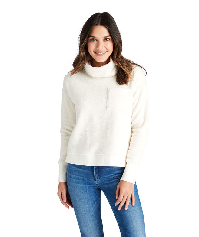 Funnel Neck Boxy Sweatshirt
