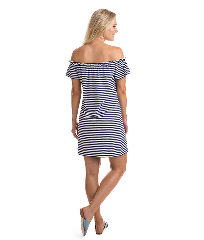 Short-Sleeve Knit Off The Shoulder Dress