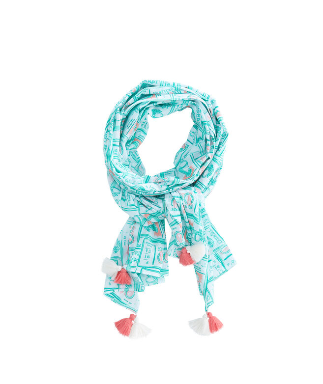 Kentucky Derby Mint Julep Scarf