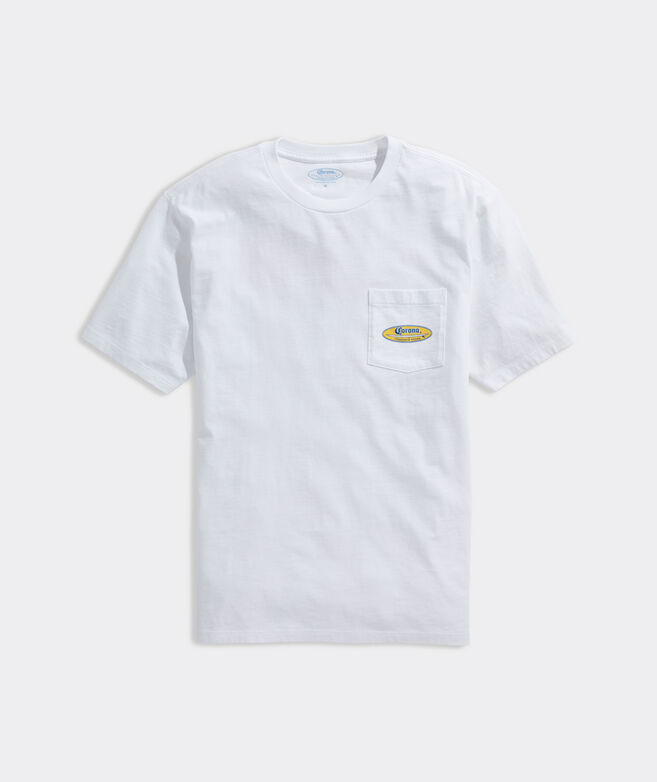 Corona® x vineyard vines Surf Logo Short-Sleeve Pocket Tee