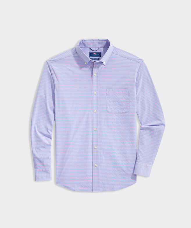 Big & Tall Gingham On-The-Go Shirt in Performance Nylon