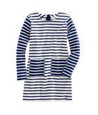 Girls Mixed Stripe Knit Pocket Dress