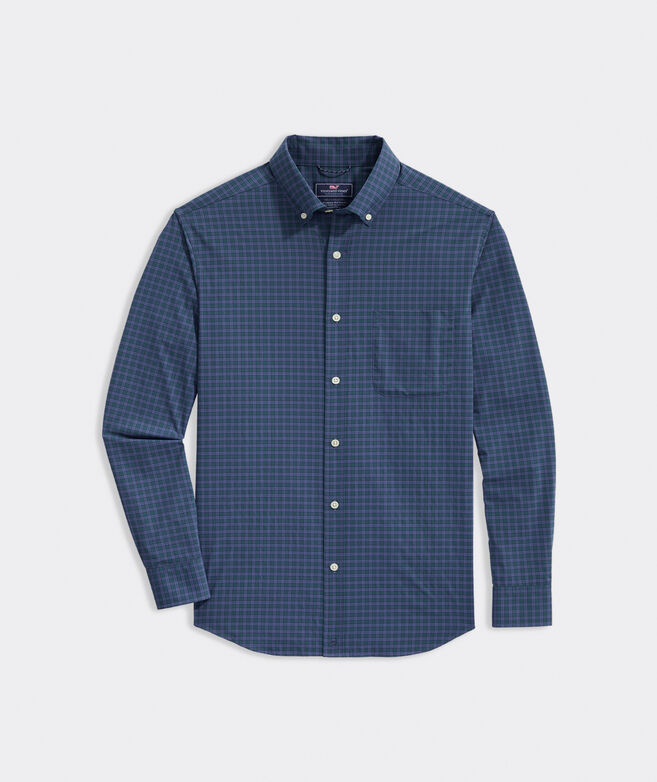 Classic Fit Plaid On-The-Go Shirt in Performance Nylon