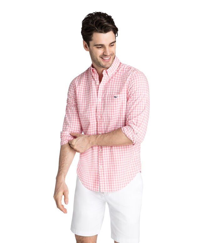 Sea Park Gingham Slim Tucker Shirt