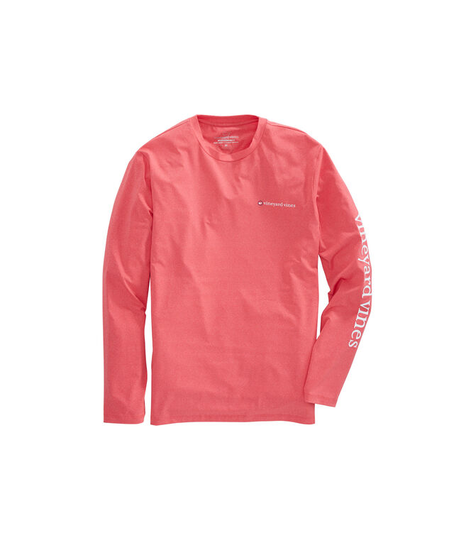 Long-Sleeve Heathered Performance T-Shirt