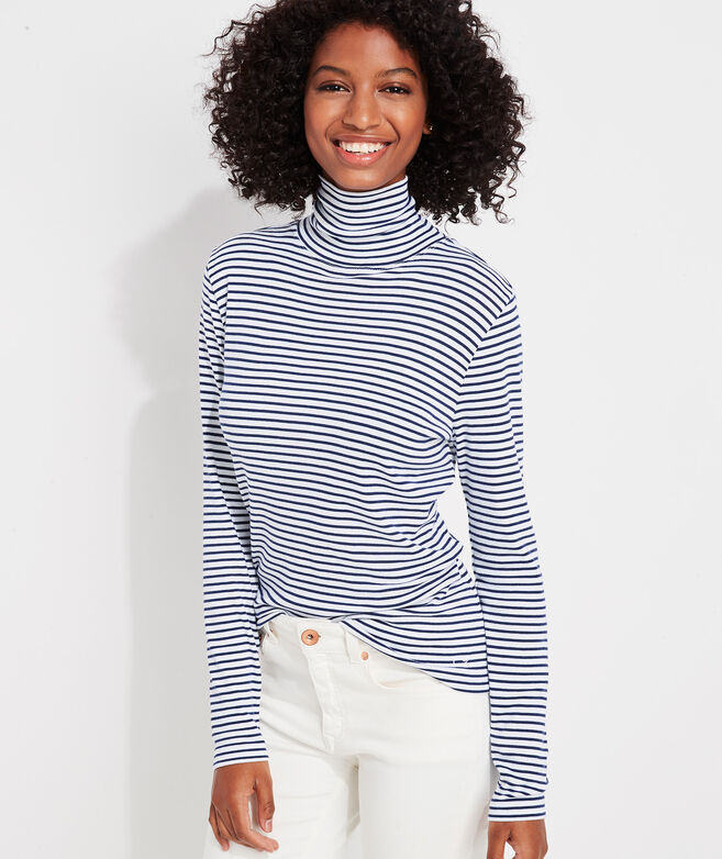 Simple Striped Turtleneck