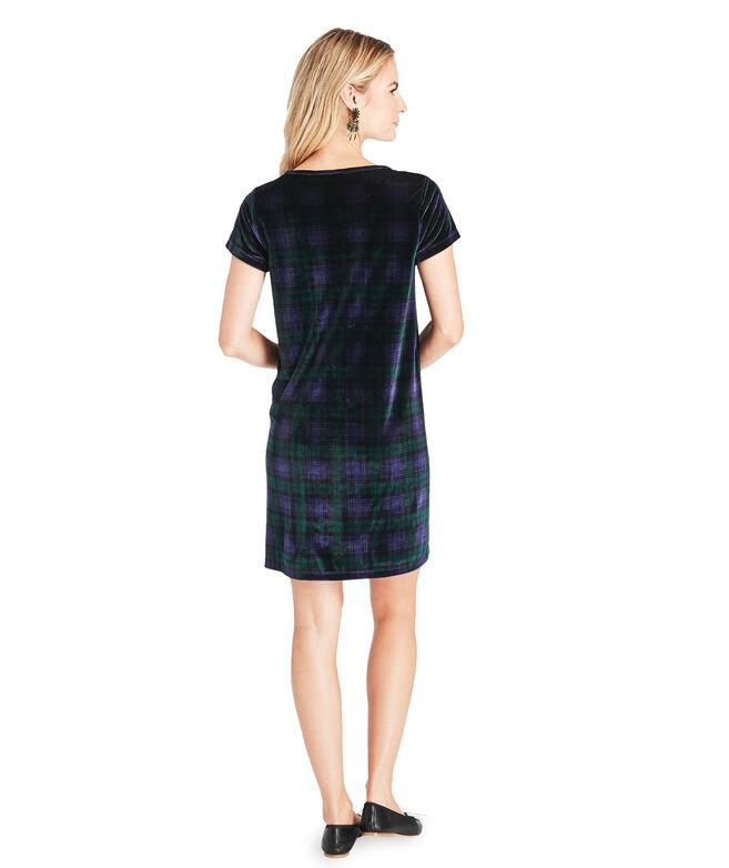 Blackwatch Velvet Madaket T-Shirt Dress