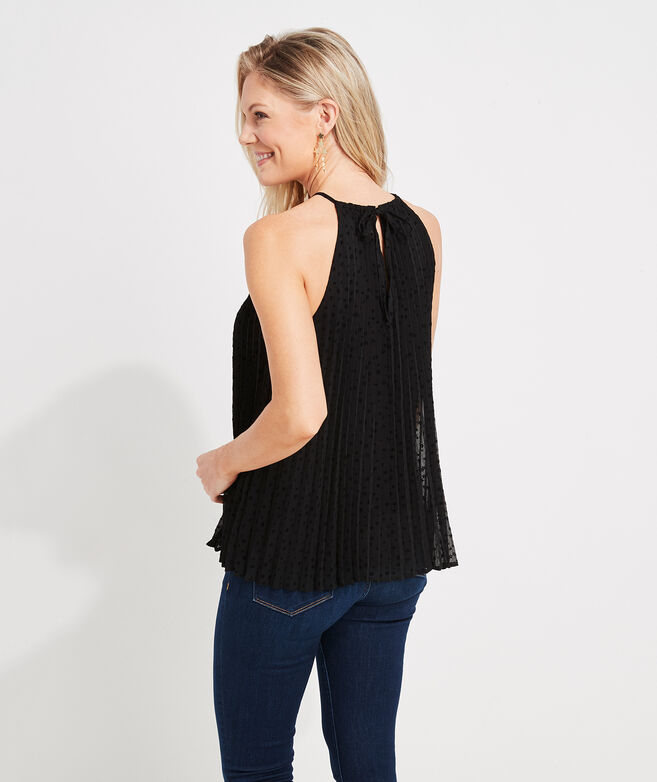 Pleated Tiny Stars Halter Top