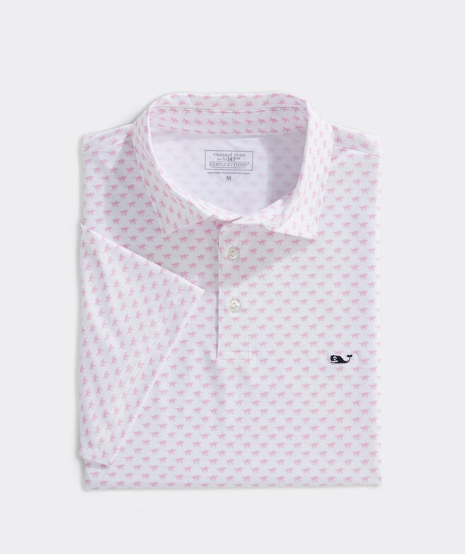 Kentucky Derby Printed Sankaty Polo