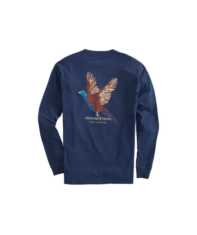 Camo Pheasant Long-Sleeve Pocket T-Shirt